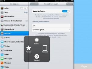 Option d'accessibilité sur l'iOs