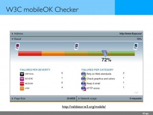 W3C, mobileOk checker