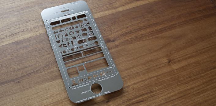 Règle Uistencil modèle iPhone