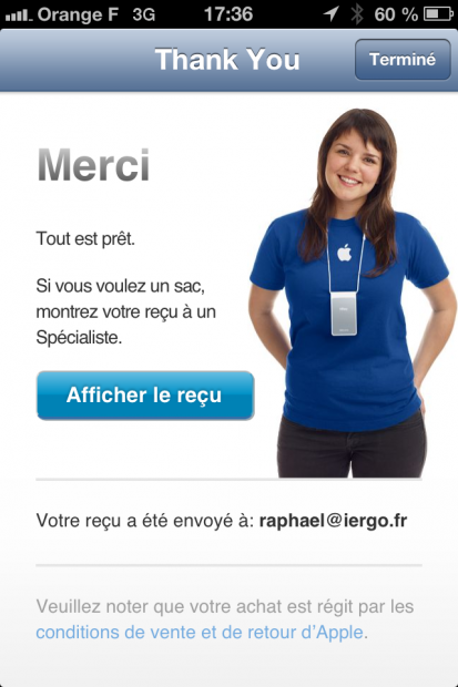 Validation du Paiement.