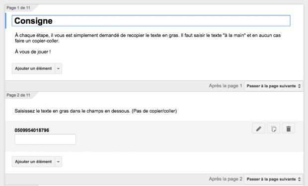 Formulaire google