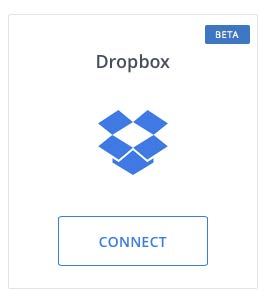 Connection à DropBox