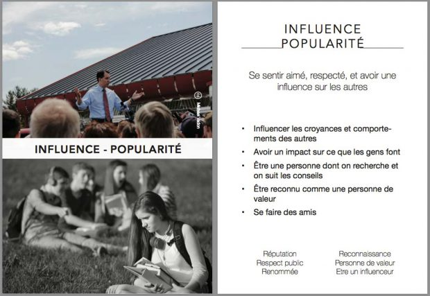 Ux card - influence popularité