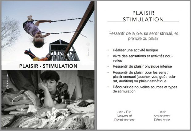 UX Card - plaisir - stimulation