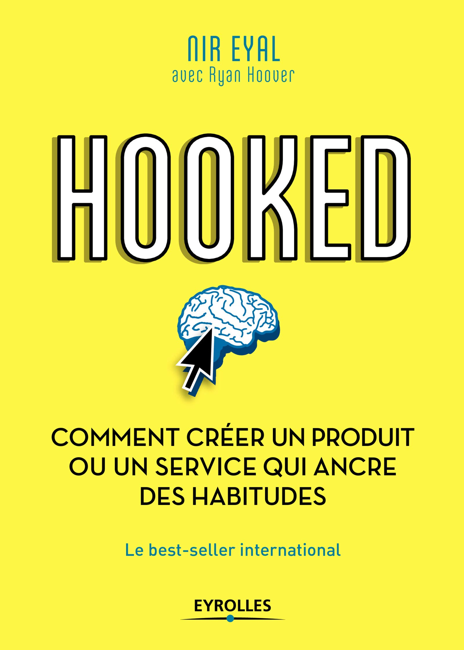 Livre Hooked, un cerveau avec une flèche de souri