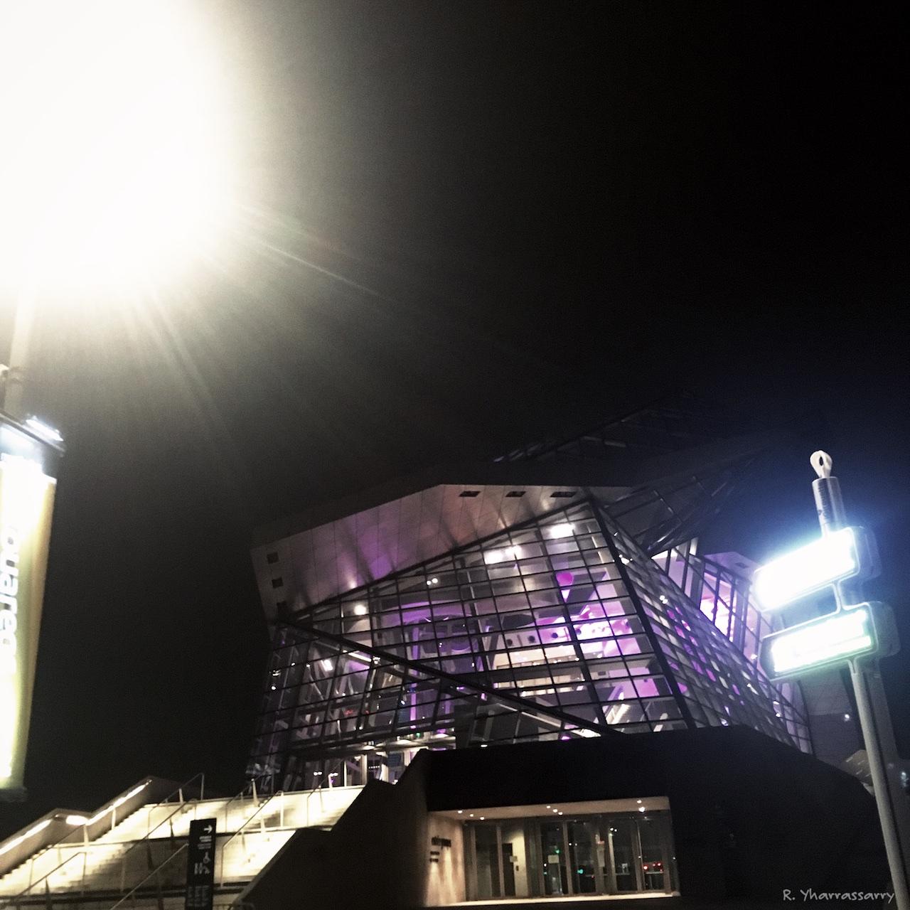 Musée des confluences de nuit